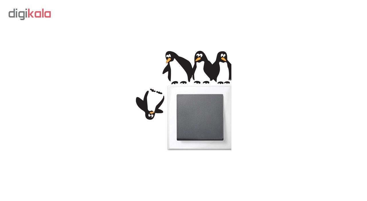 استیکر کلید پریز طرح پنگوئن ها